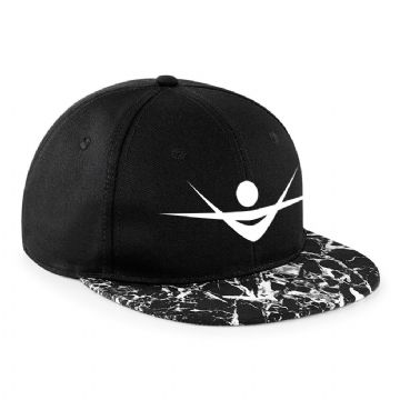 Black marble Flat peak Snapback Virtue Hat